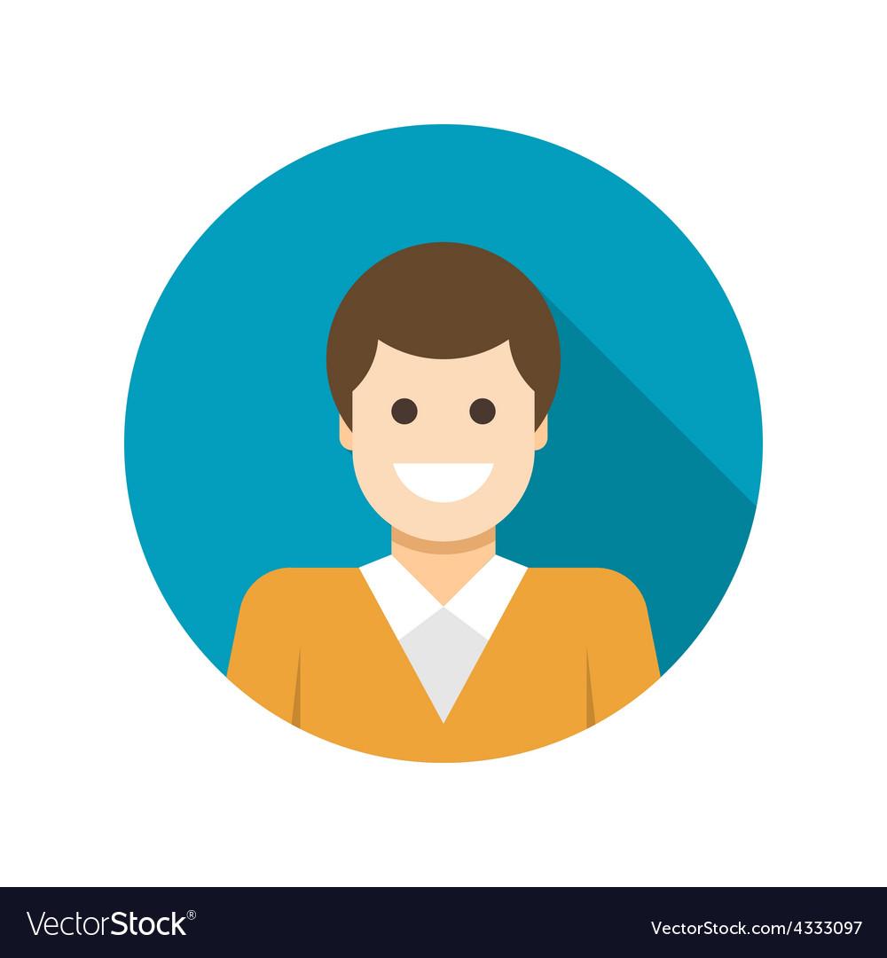 Flat Business Man User Profile Avatar icon vector image