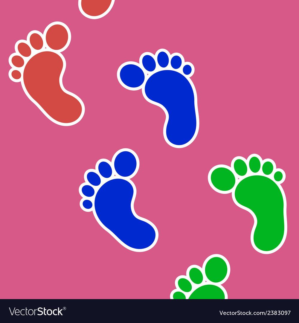 Footprints background