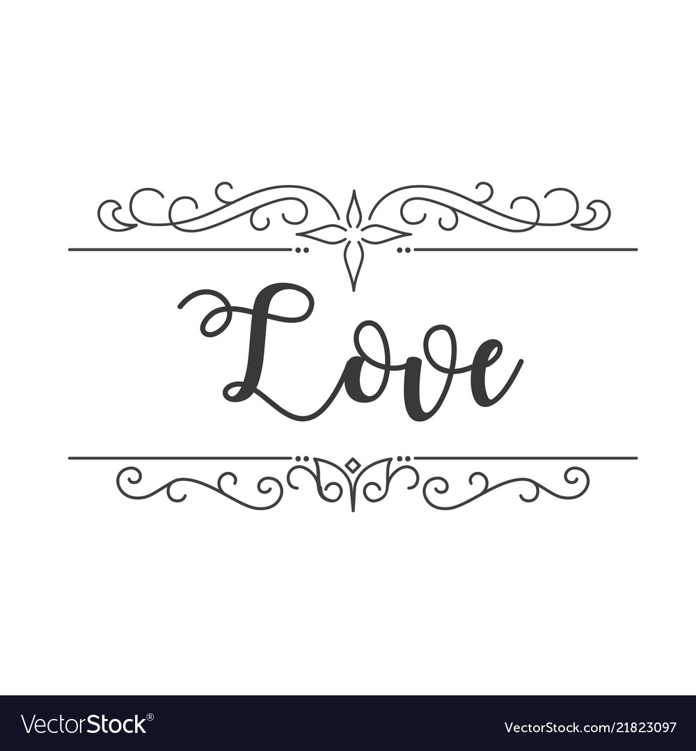 Love abstract design white background image