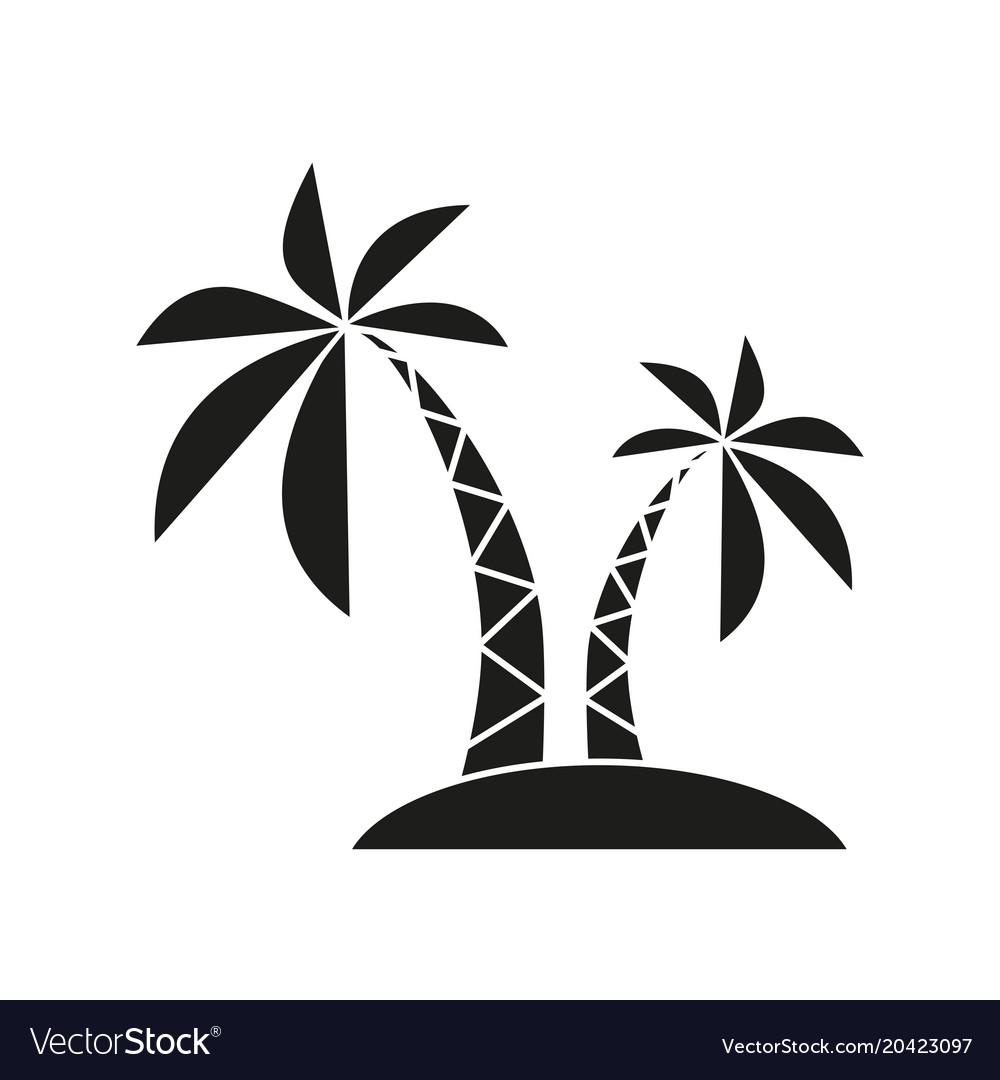 Palm black icon