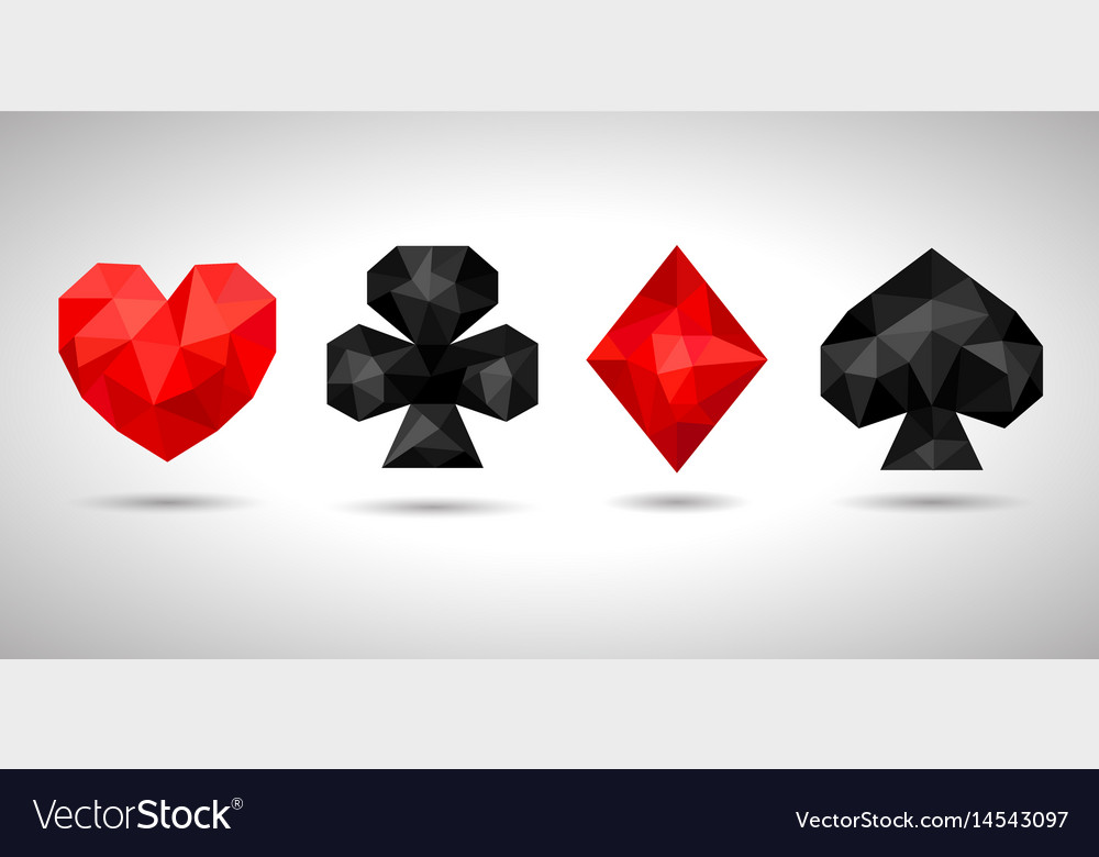 Playing card suits icon symbol