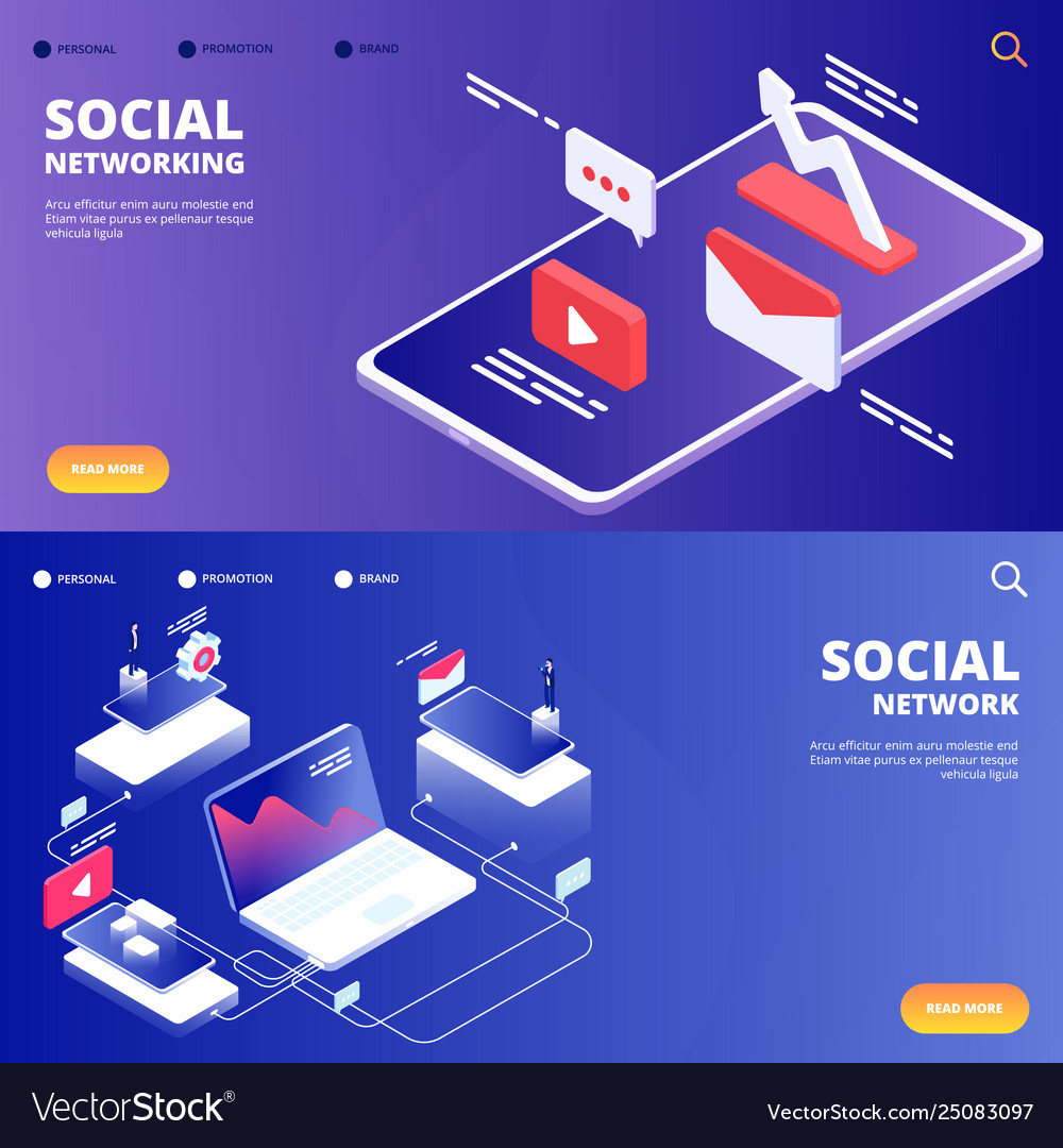 Social network and networking landing pages