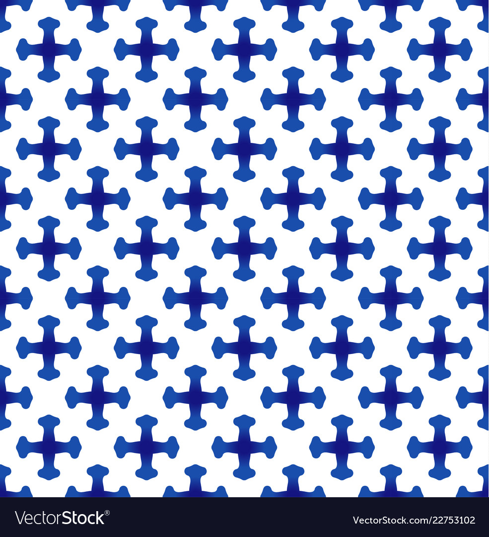 Blue and white chinese pattern