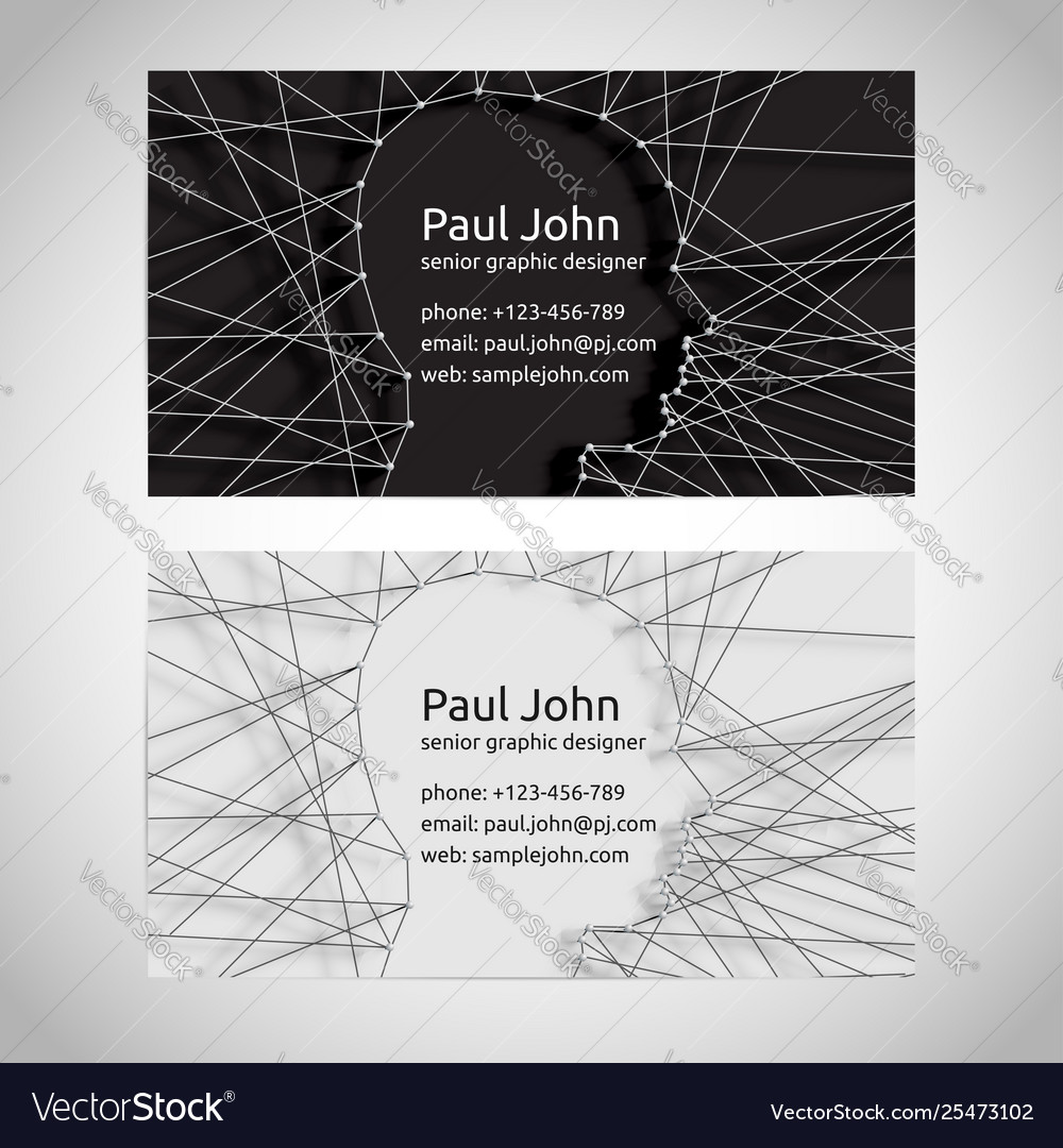 Business card template front and back
