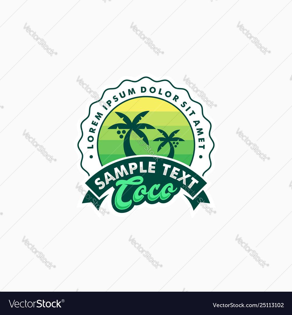 Coco badge concept designs template