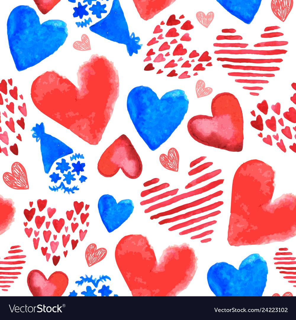 Hand drawn romantic seamless pattern