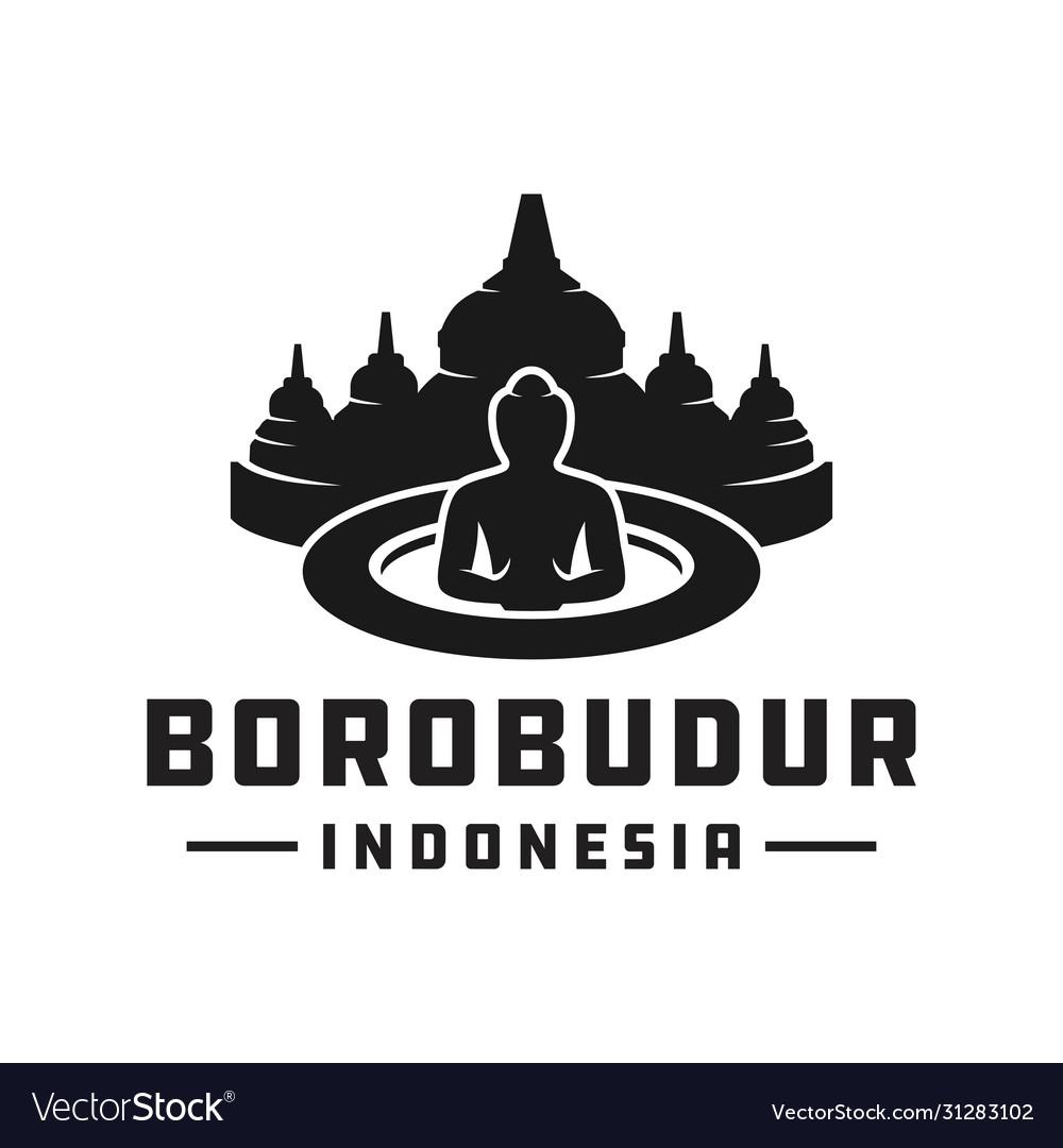 Indonesian borobudur temple logo