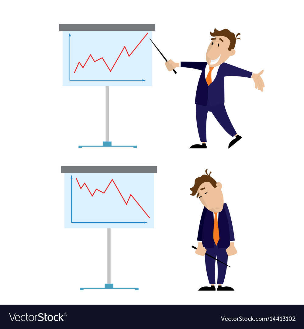 People and the presentation of growth and lowering vector image