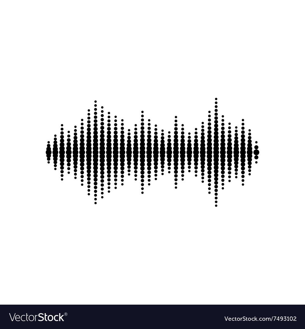 sound or audio wave royalty free vector image vectorstock