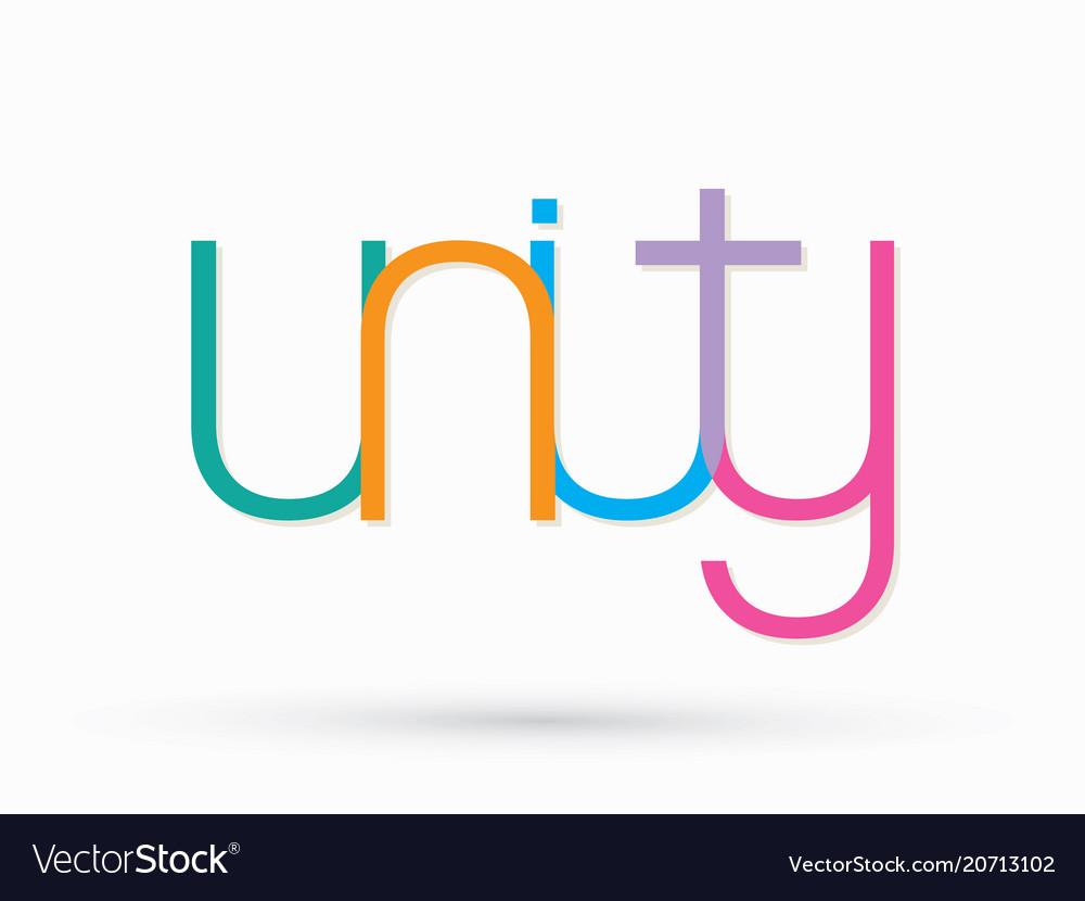 Unity text design graphic