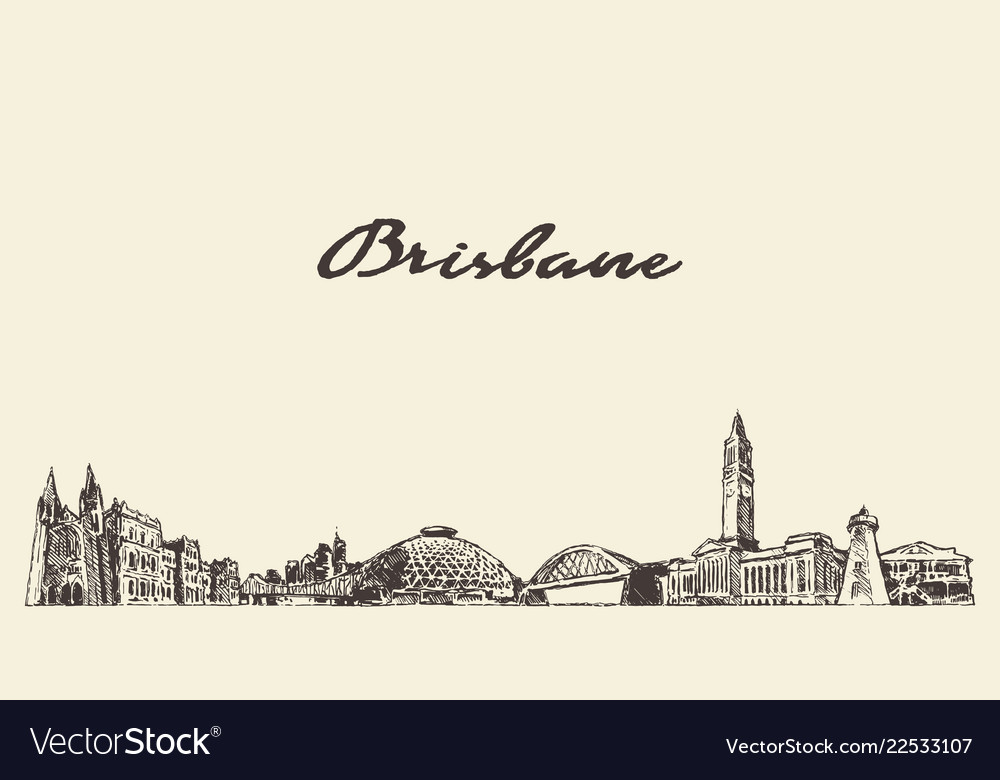 Brisbane a big skyline queensland australia