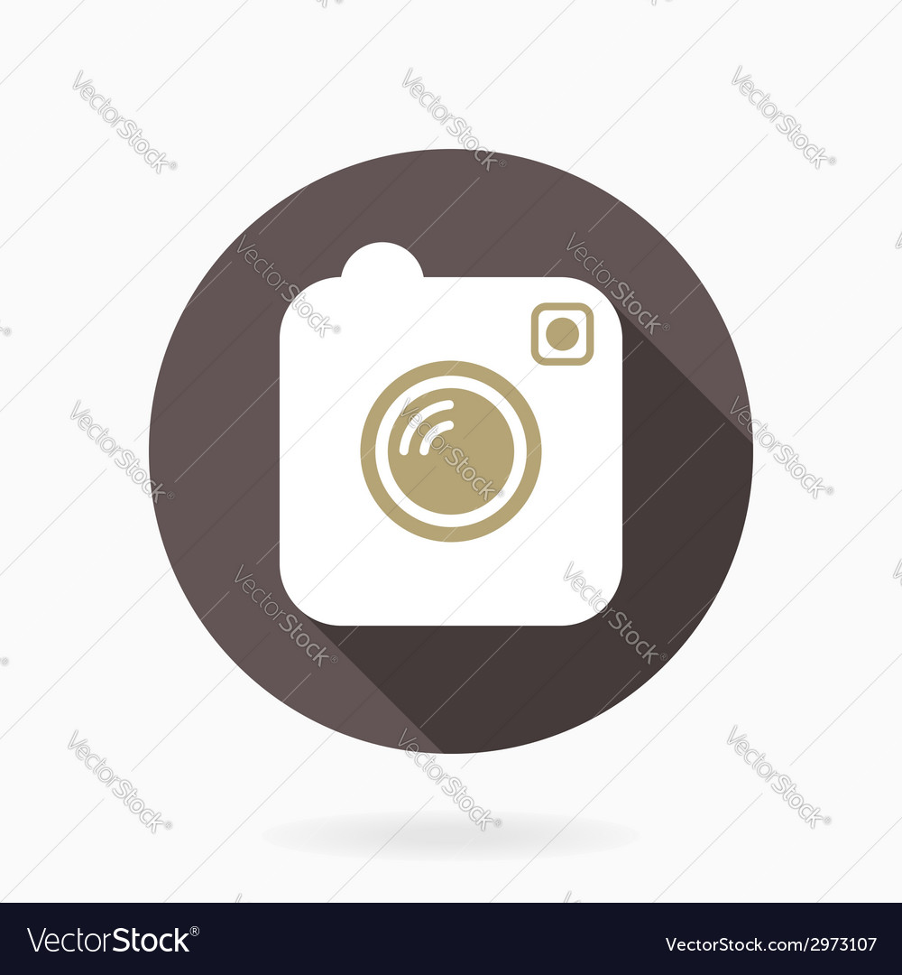 Camera Icon With Flat Design
