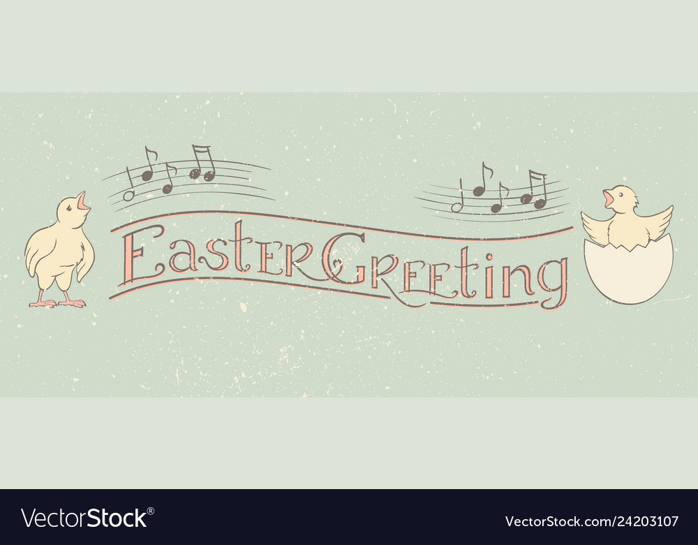 Easter greeting calligraphy banner