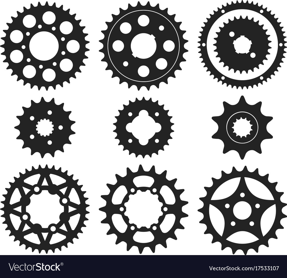 Gear wheel icons set vector image