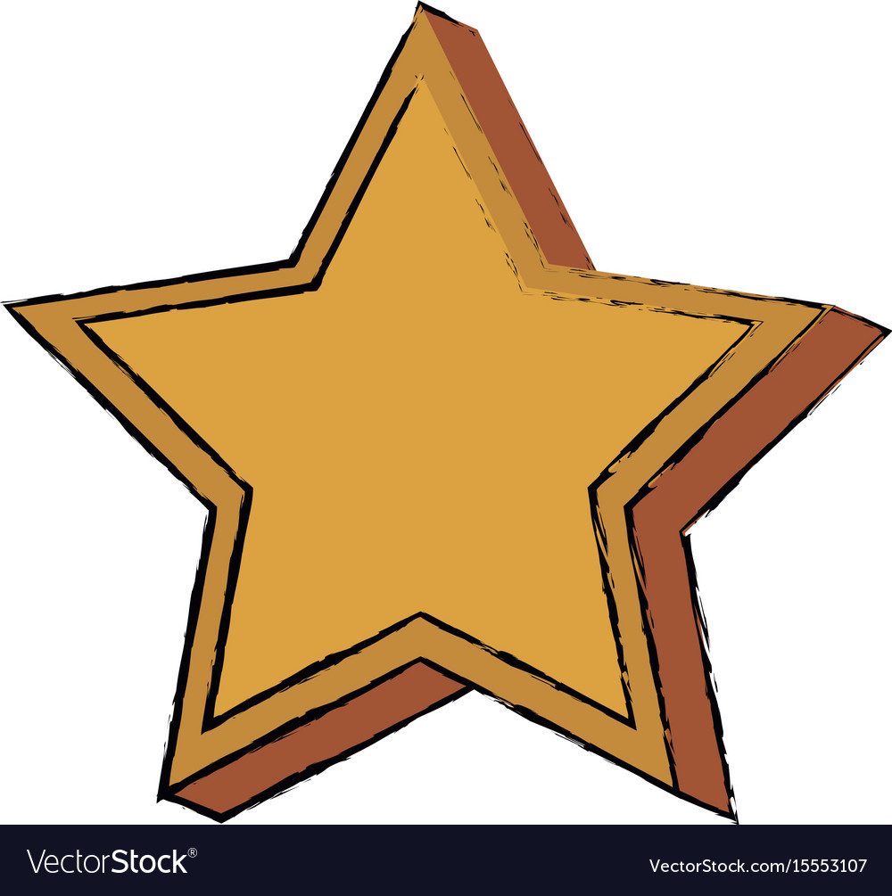 Gold star win trophy honor image vector image