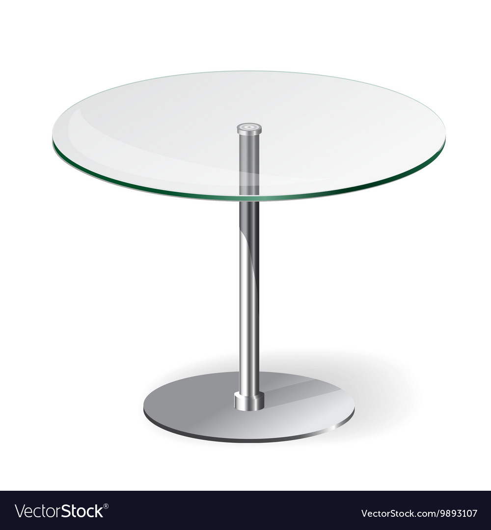 Modern Glass Table Royalty Free Vector Image Vectorstock