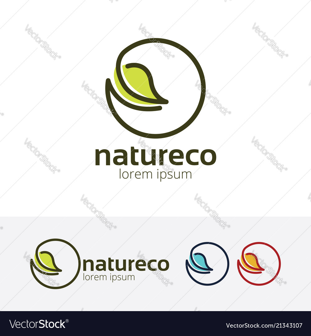 Nature eco logo