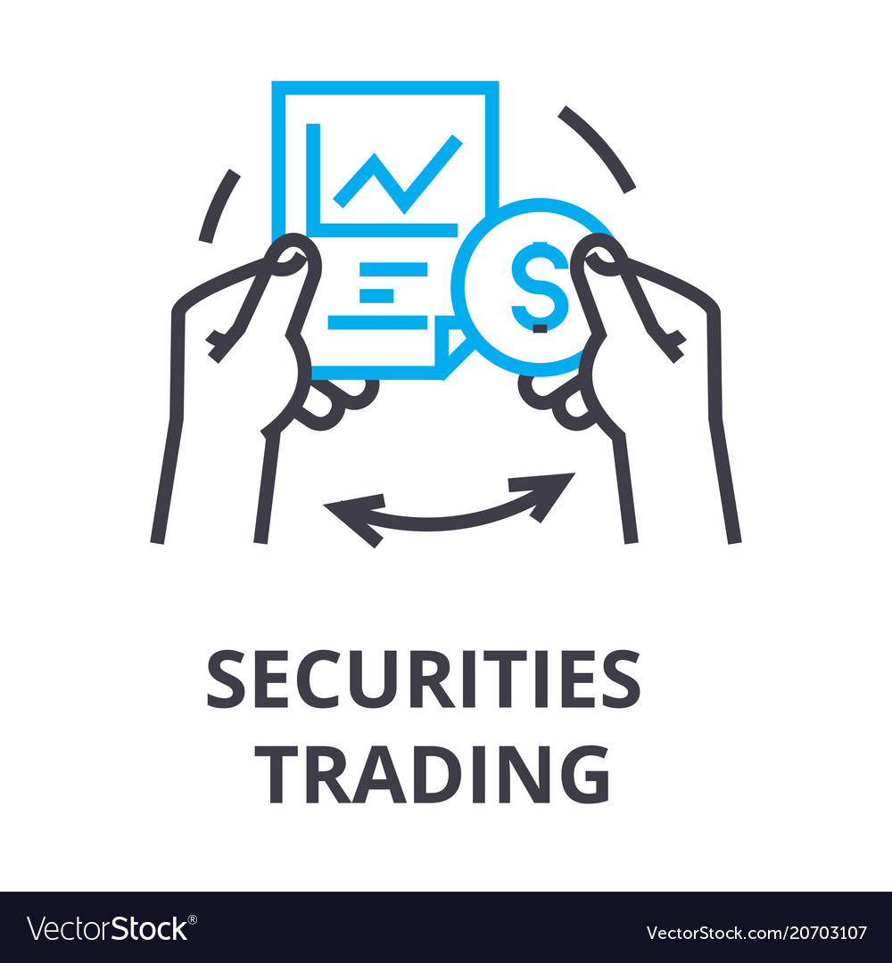 Securities trading thin line icon sign symbol