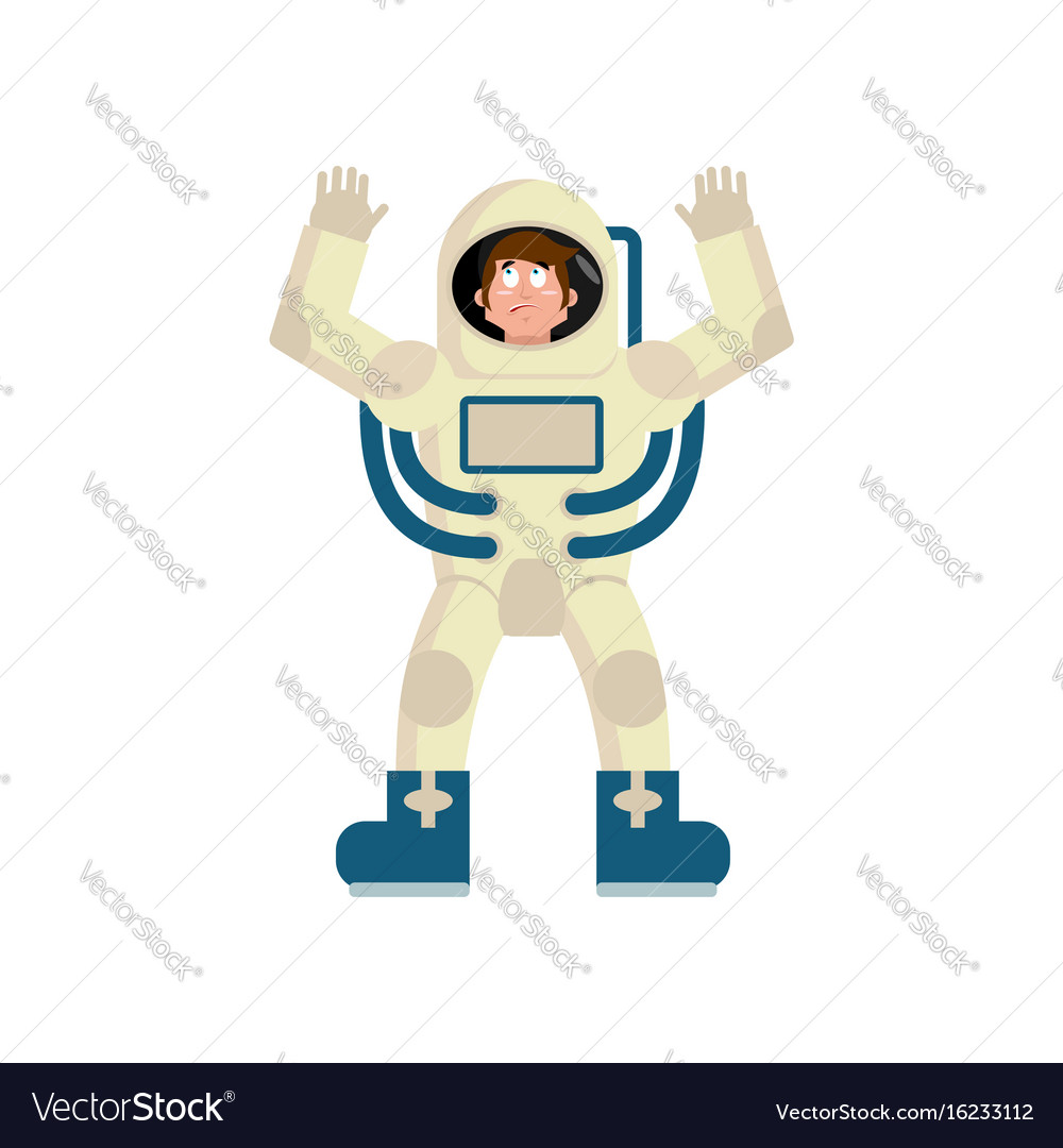 Astronaut surprised emoji cosmonaut amazement