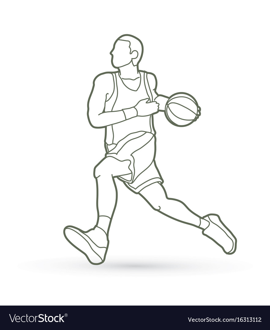 Basketball player running