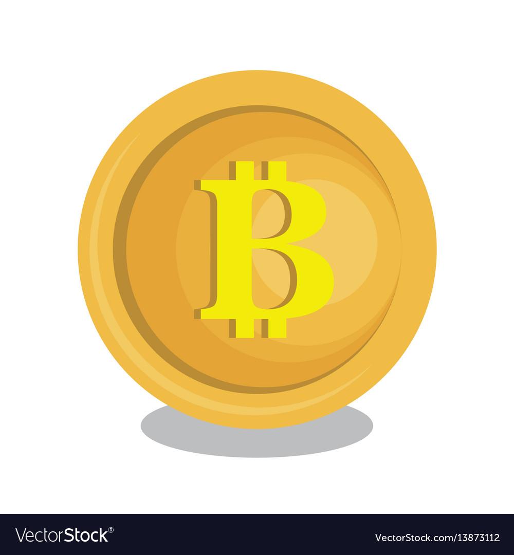Bitcoins trading flat icons