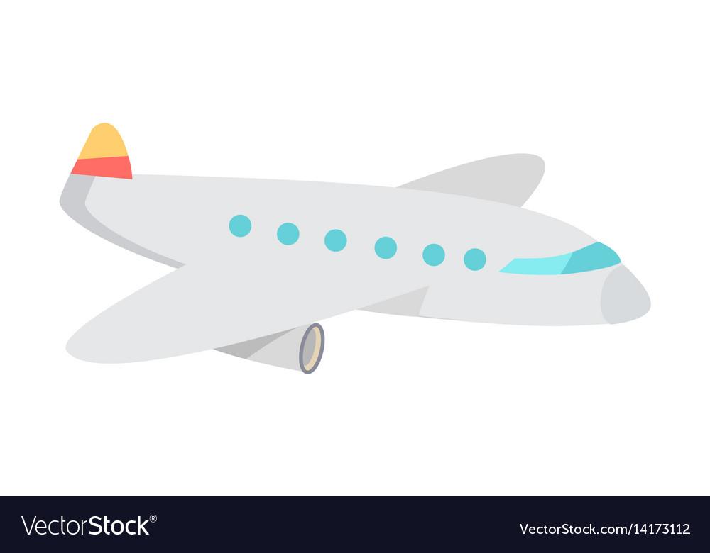 Cartoon Airplane Flat Royalty Free Vector Image