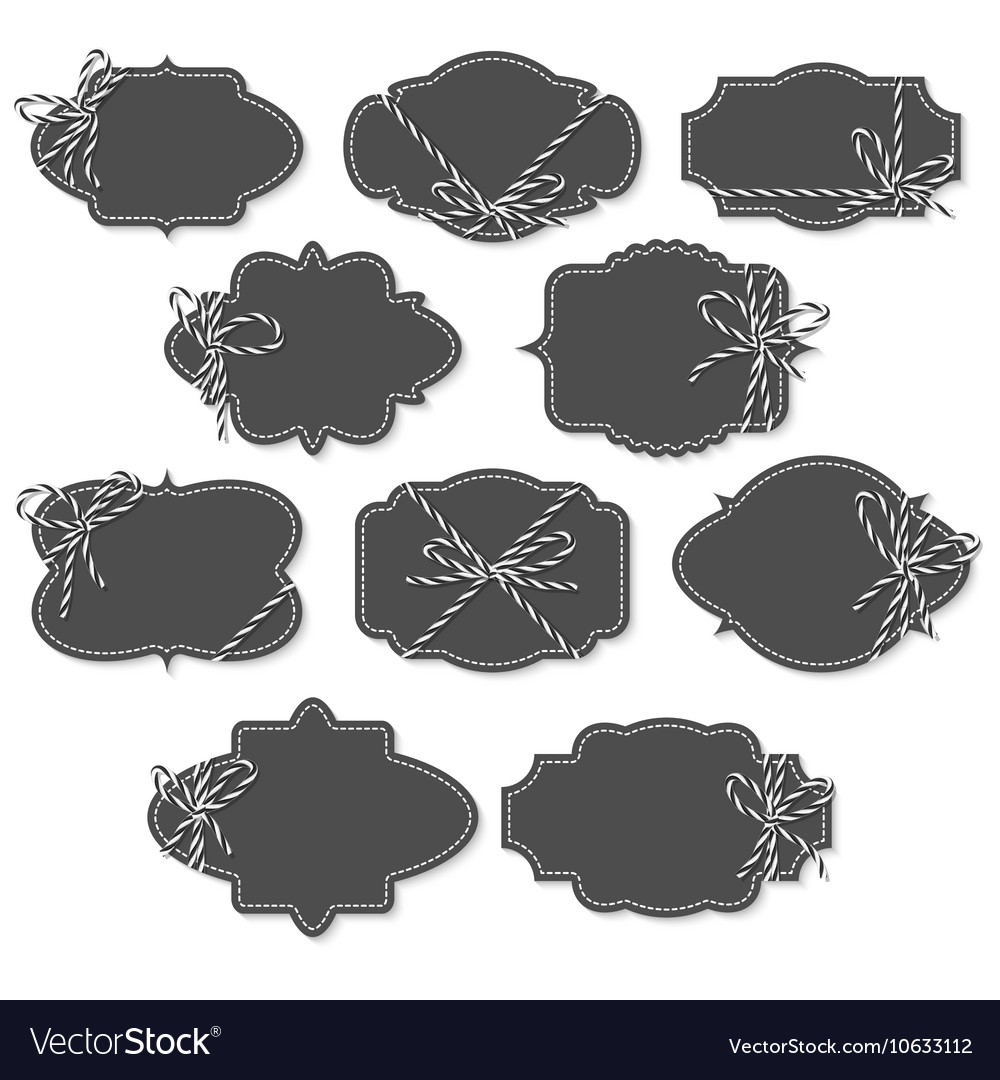 Chalkboard vintage labels and frames Royalty Free Vector