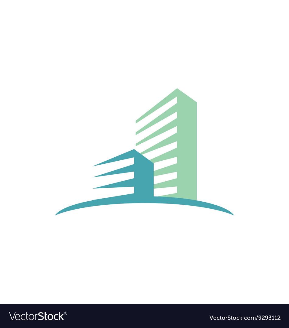 Cityscape modern building logo