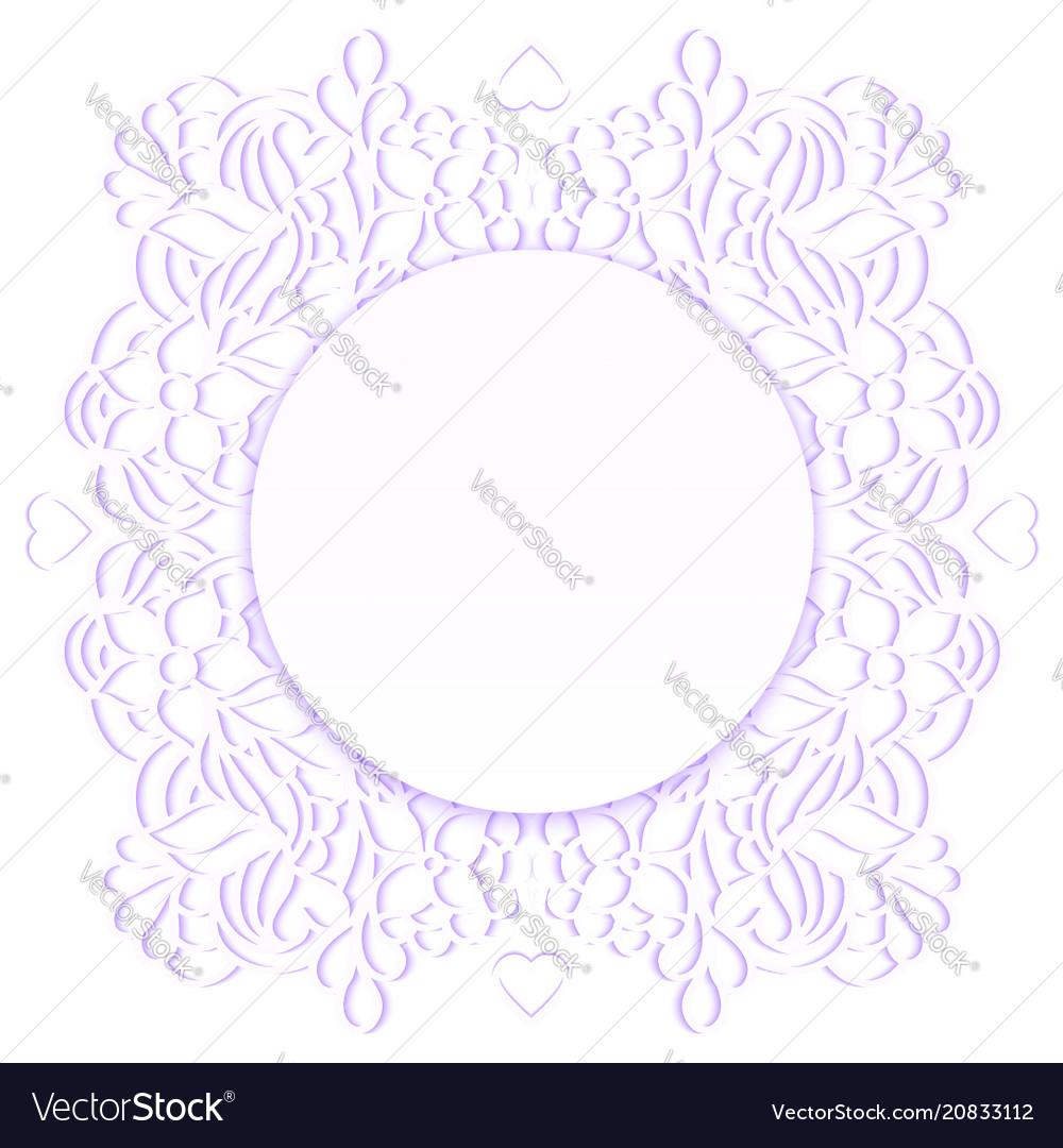 Floral paper frame