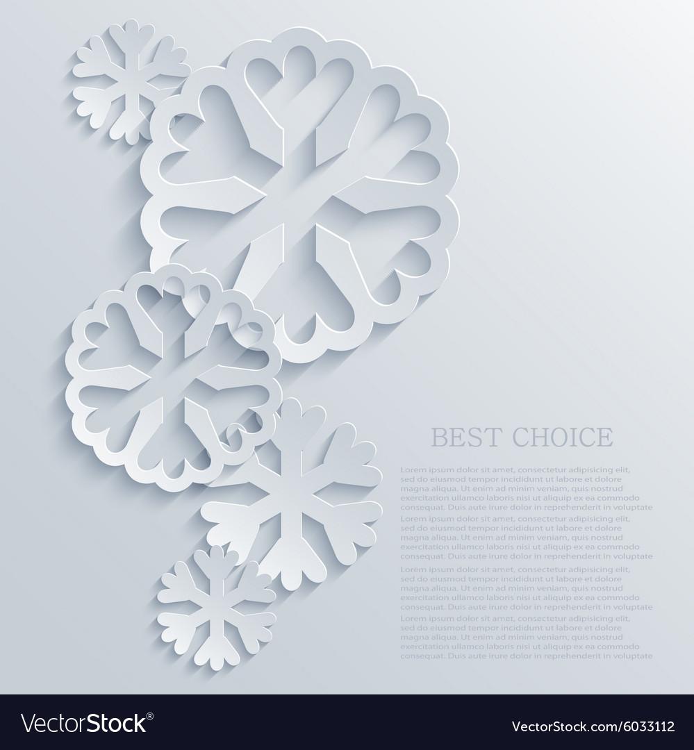 Modern snowflakes light background