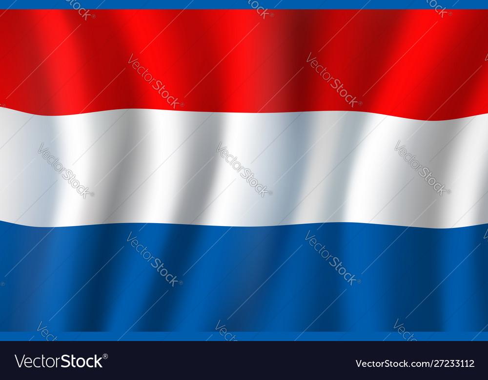 Netherlands national tricolor flag holland