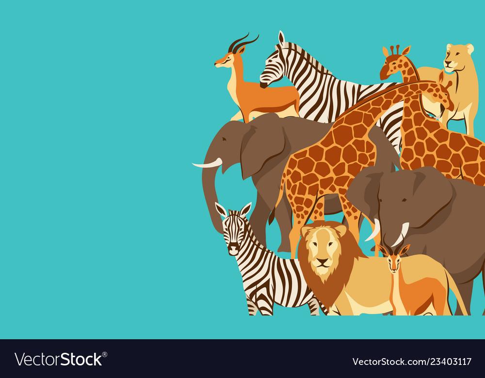 Background with african savanna animals