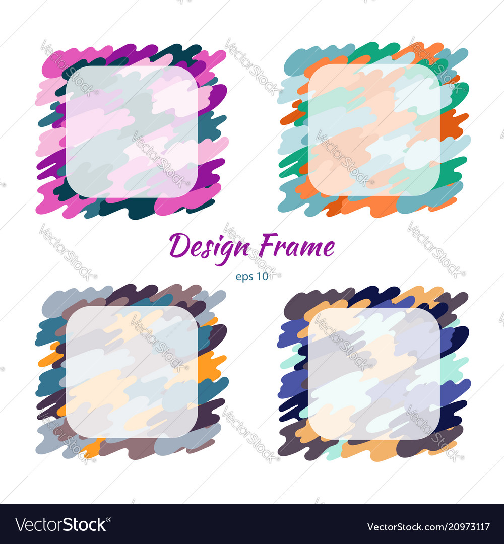 Frame colorful camouflage and texture design