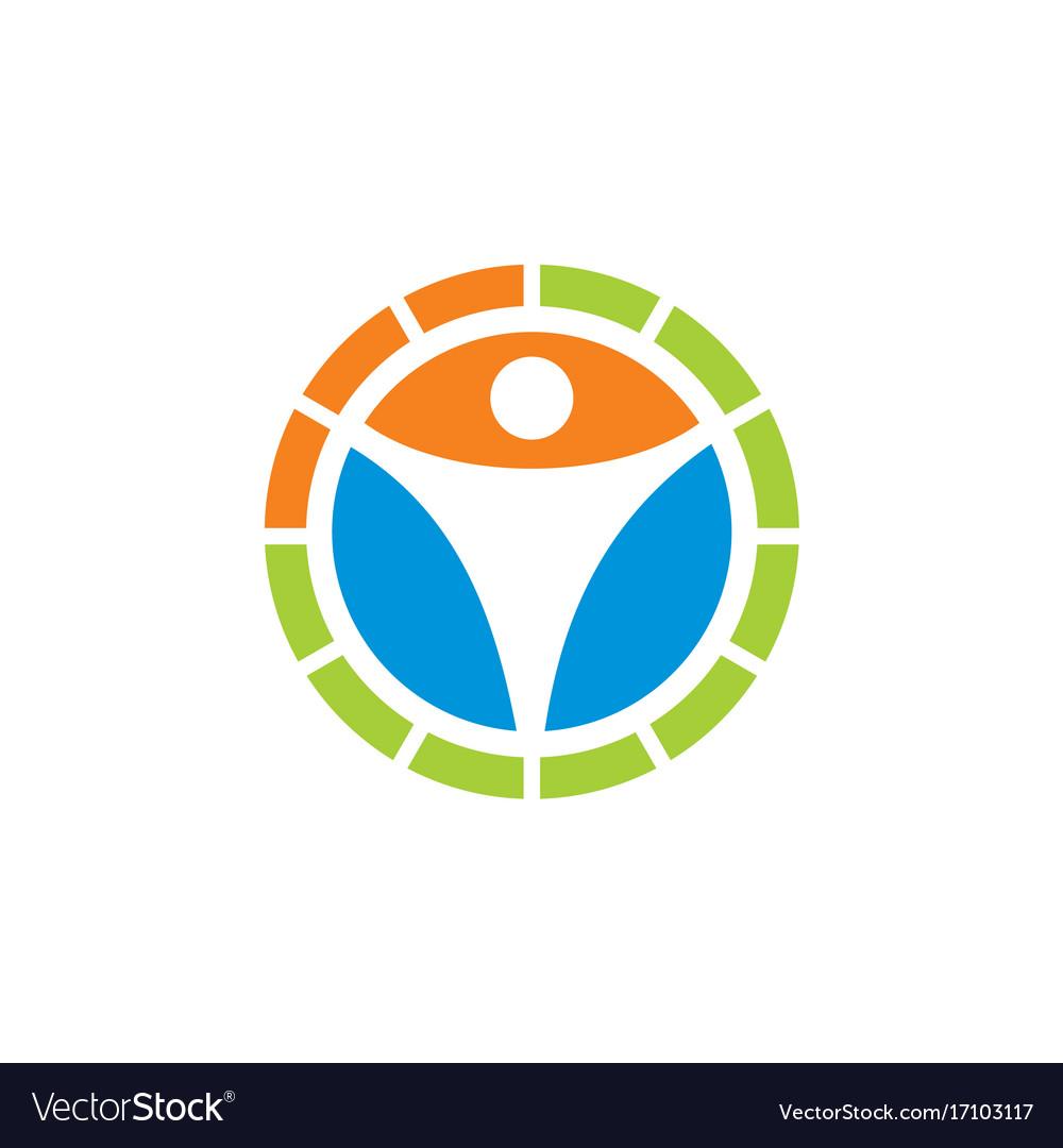 Human icon circle logo
