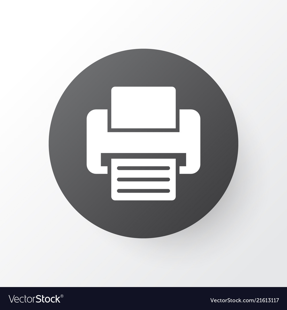 printer icon symbol premium quality isolated fax vector image vectorstock