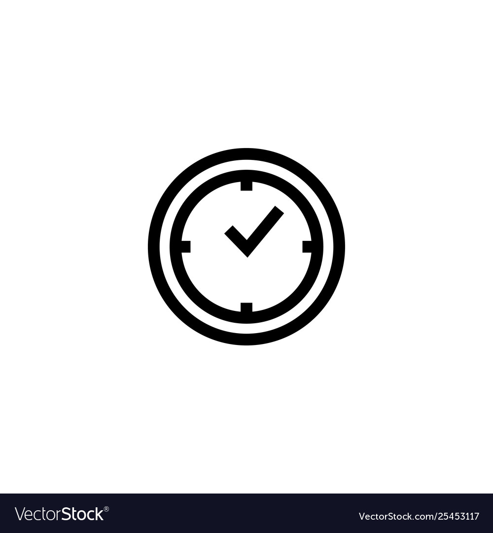Time clock icon design template