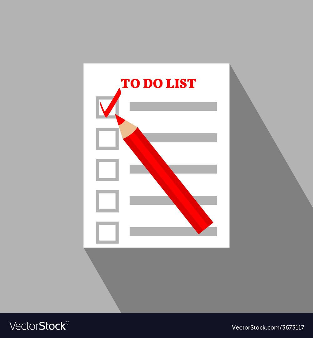 To Do List Flat Icon Design
