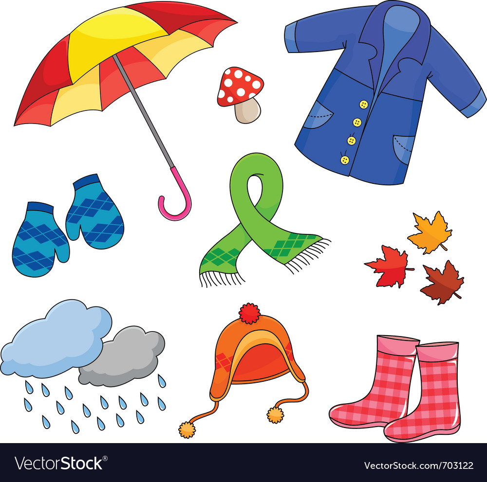 Картинки осенняя одежда для детей детского сада