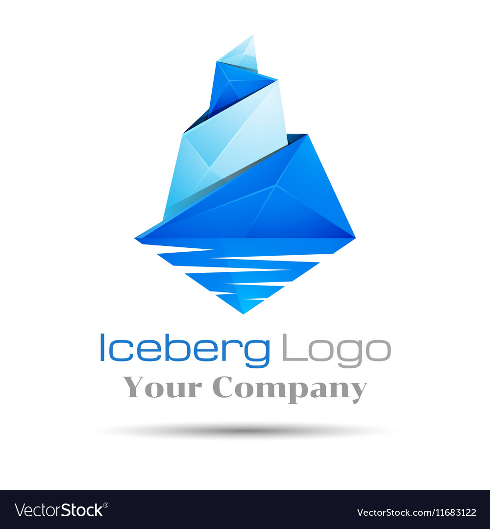 the best attitude 51746 bd23c Blue iceberg Brand sign Colorful 3d Volume Logo