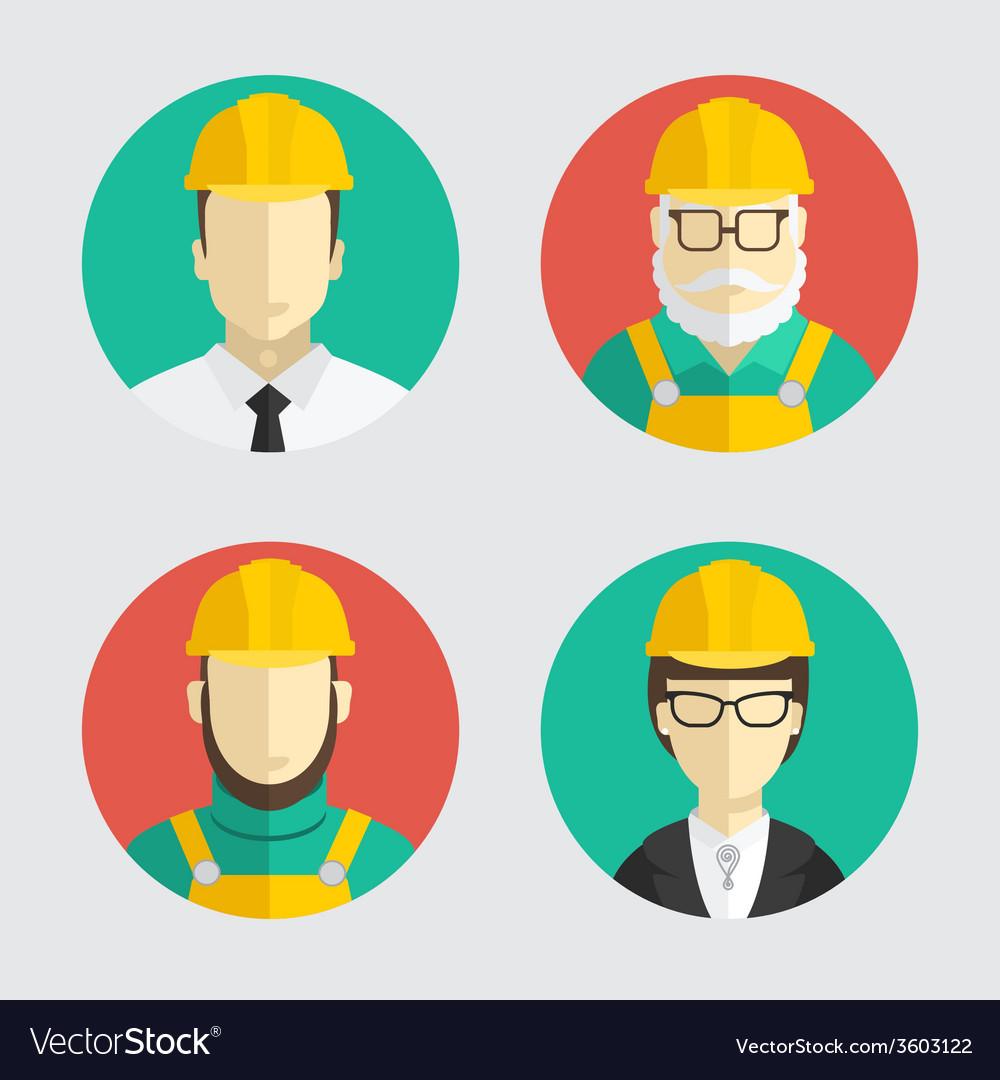Building trades Avatar builder engineer Flat