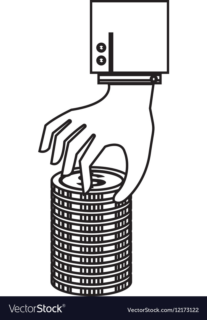 Hand human with coin