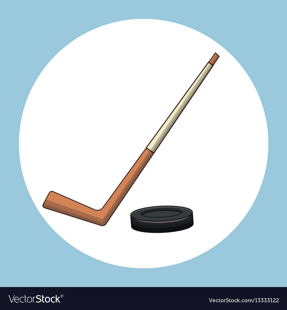 Hockey puck stick symbol