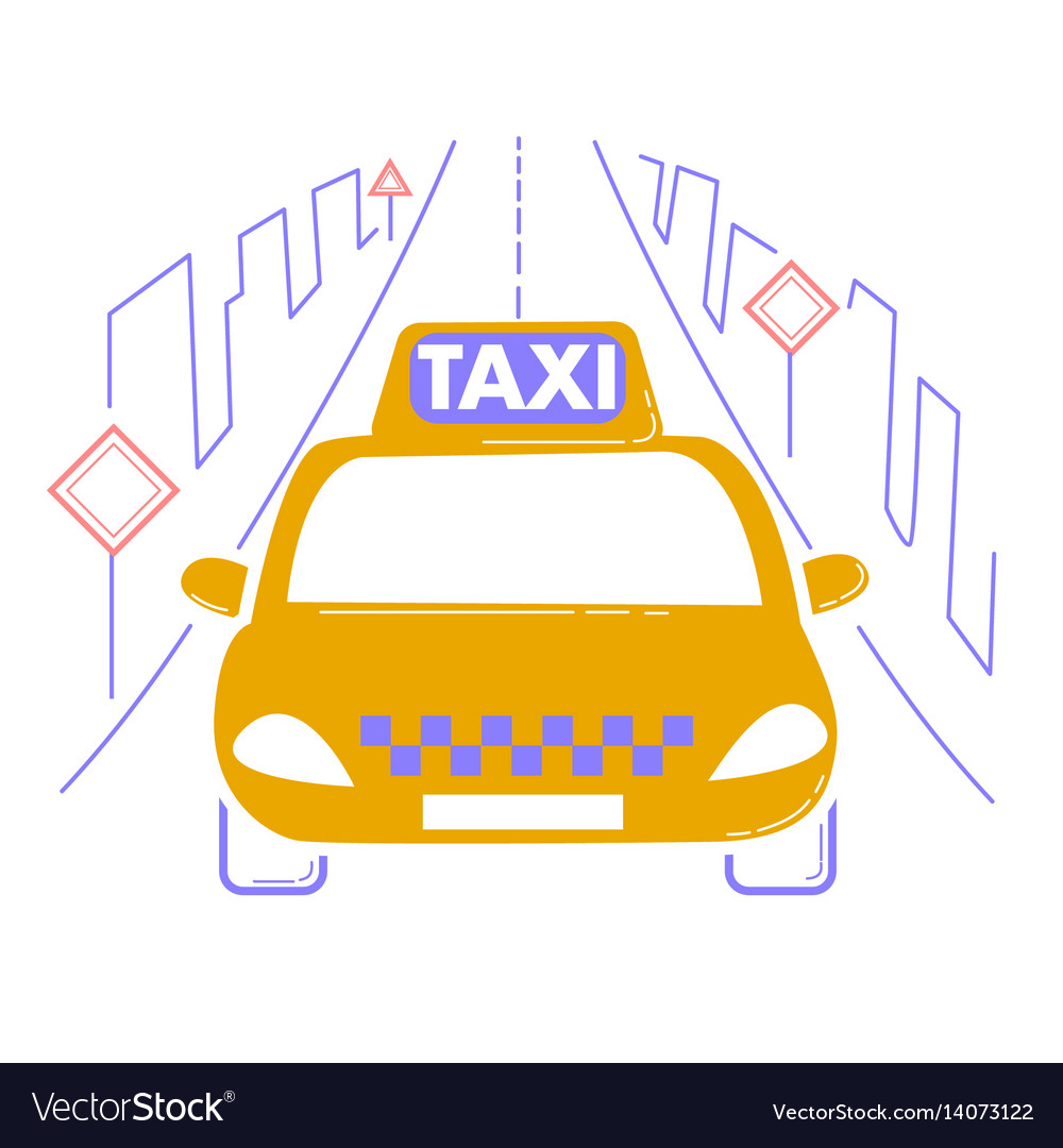 Icon travel by taxi