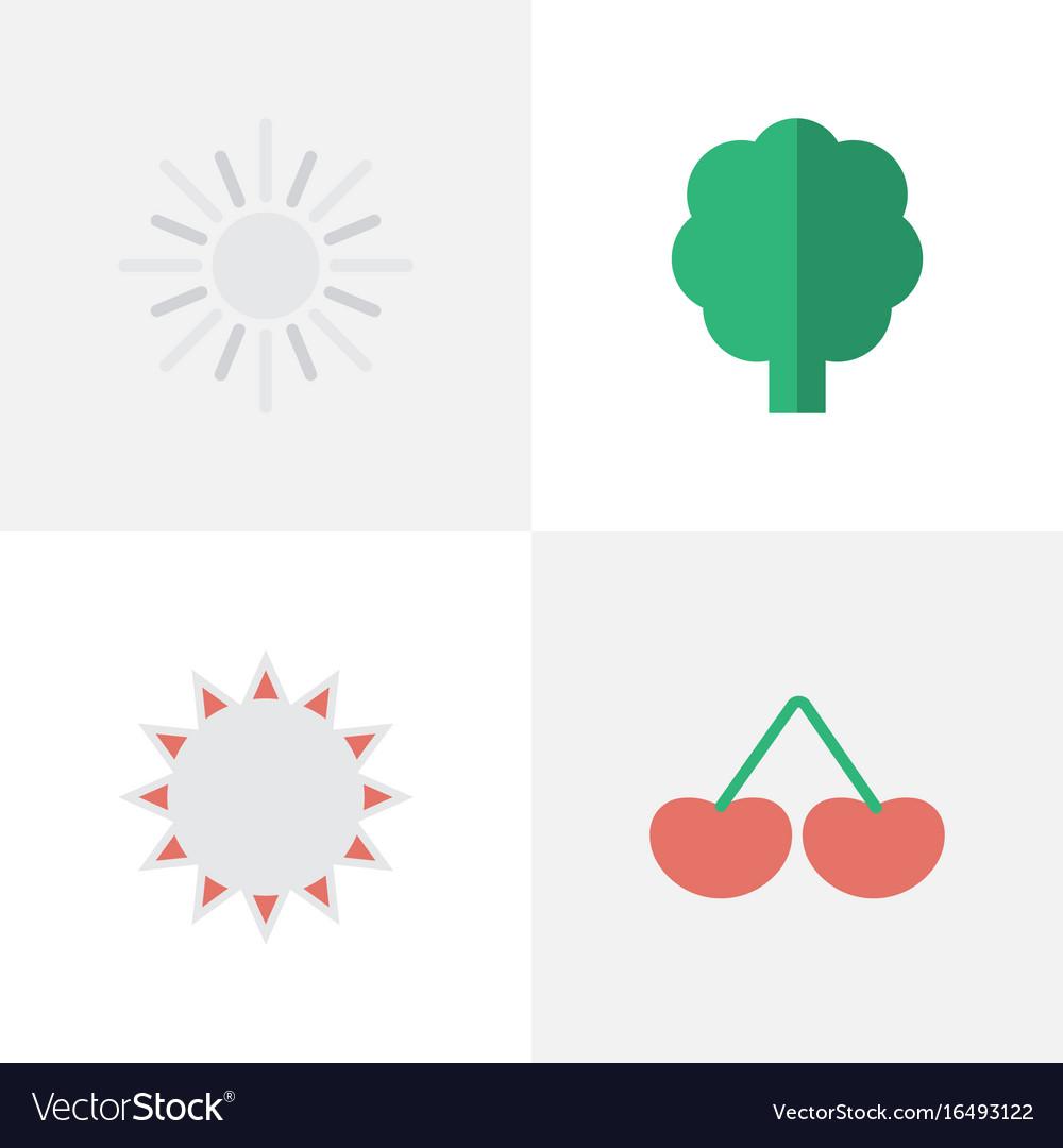Set of simple gardening icons