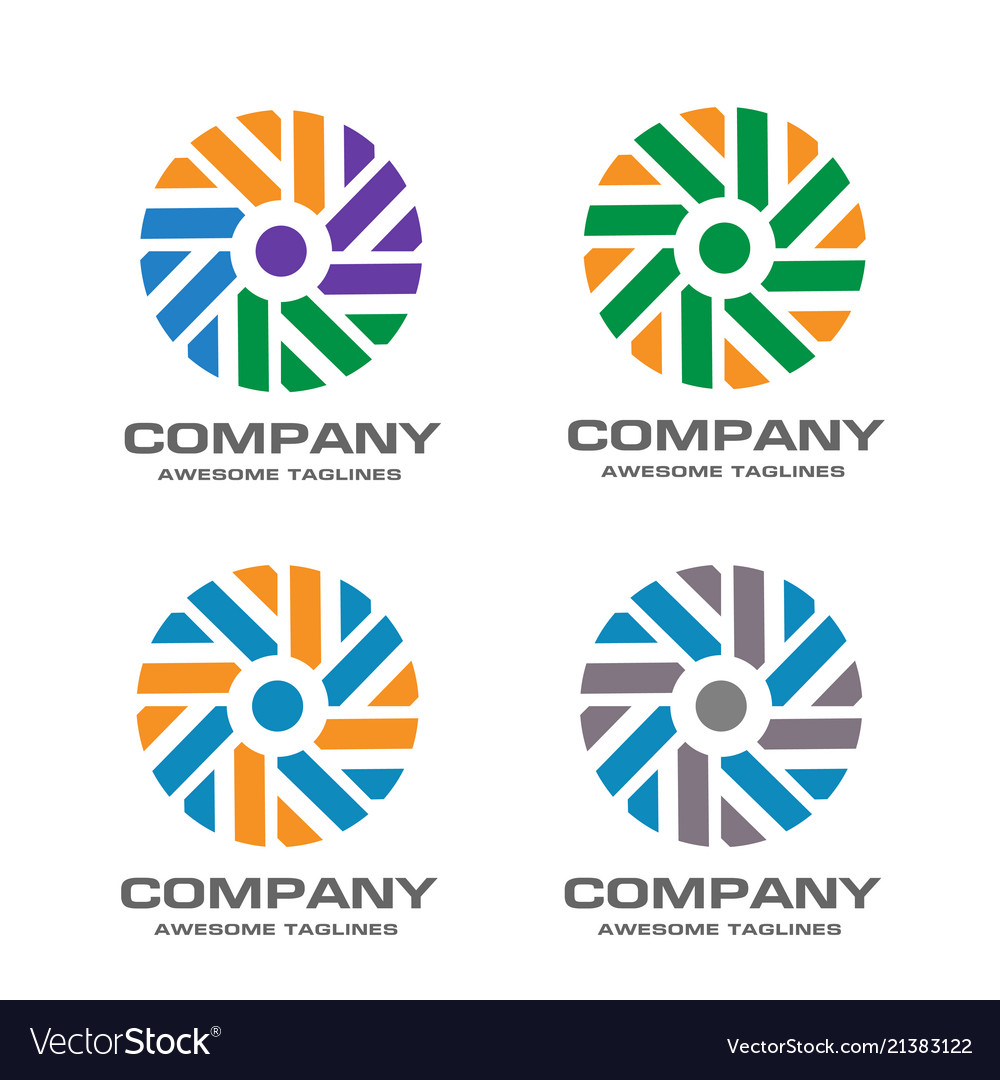 Windmill logo design template