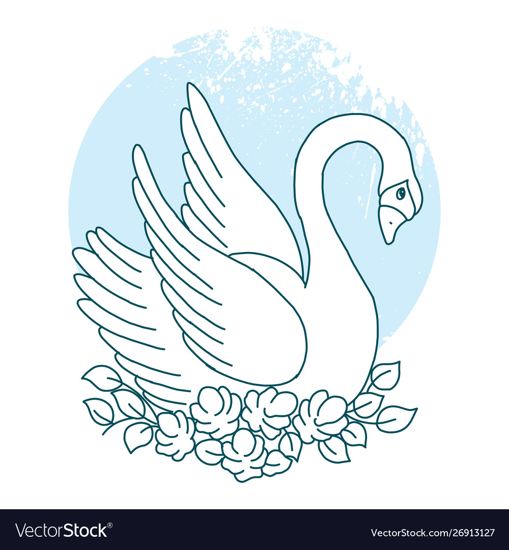 Collection design element with swans