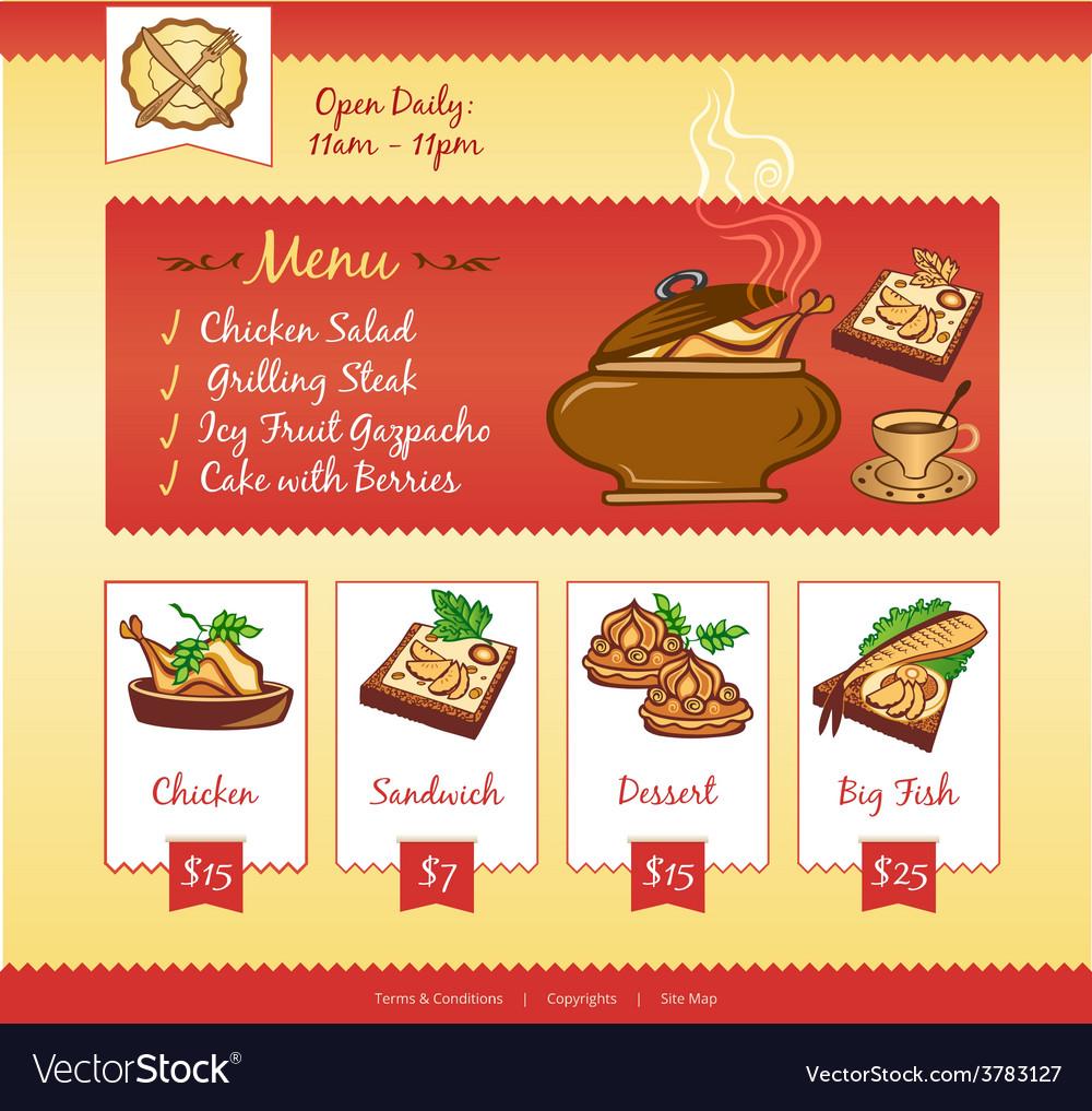 Food web template vector image