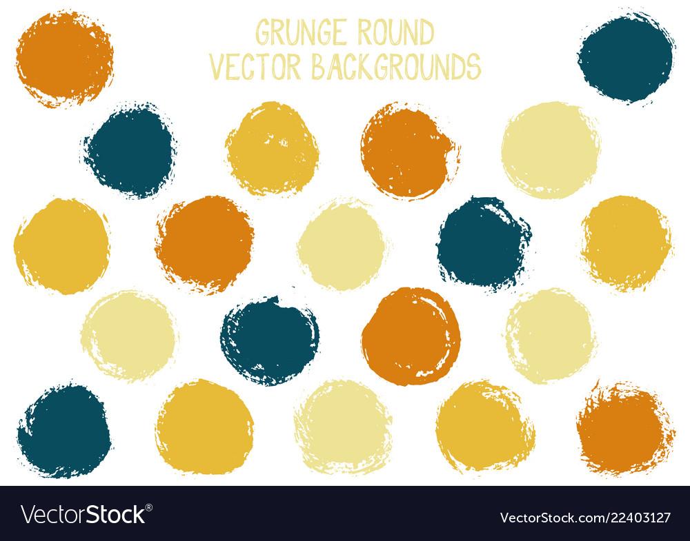 Grunge circles isolated