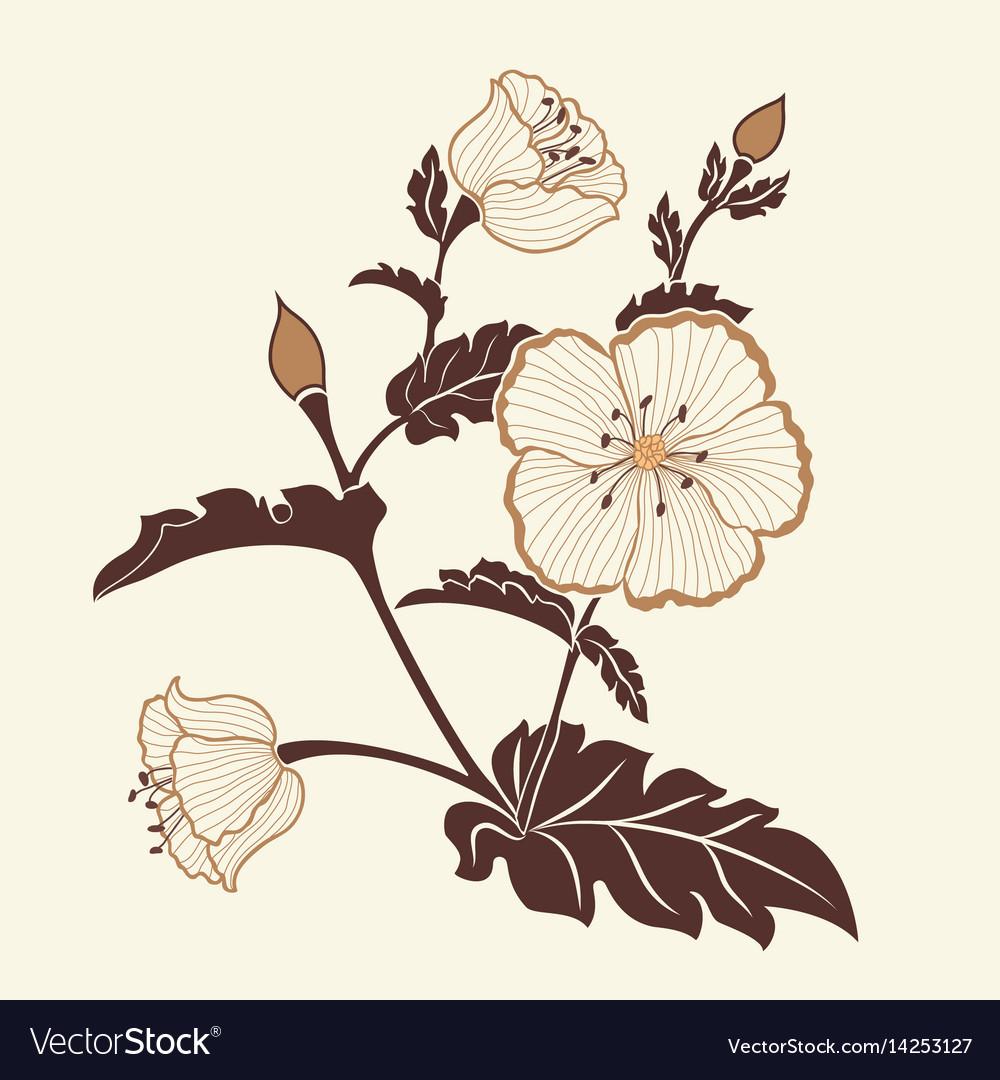 Hand drawn decorative floral