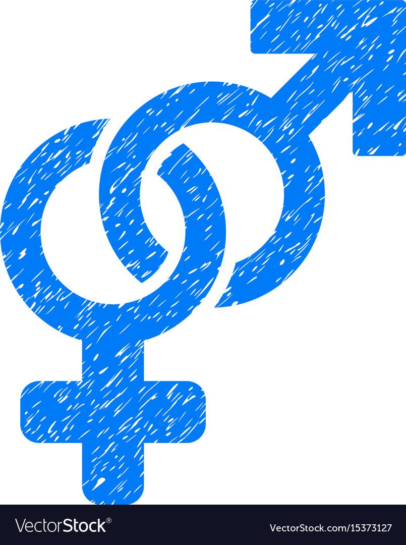Heterosexual symbol grunge icon